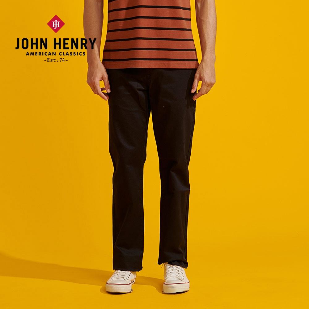【JOHN HENRY】舒適百搭寬鬆長褲-兩色選