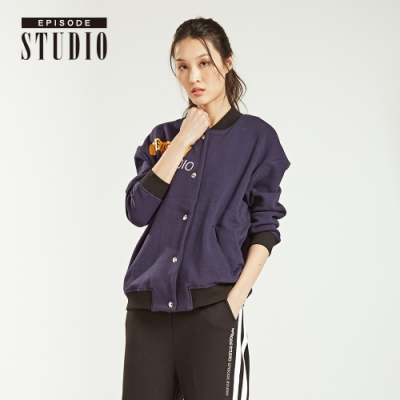 EPISODE Studio - 經典LOGO設計棉質外套(深藍)