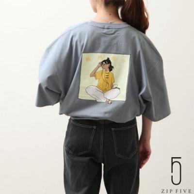 ZIP日本男裝 中華風插畫印刷短袖TEE (6色)