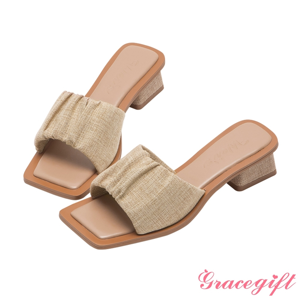Grace Gift x唐葳聯名中跟涼鞋(2款任選) product image 1