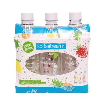 Sodastream 水滴型專用水瓶1L 3入(夏日果宴)