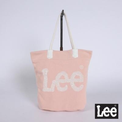 Lee Logo印花 側背包 粉色