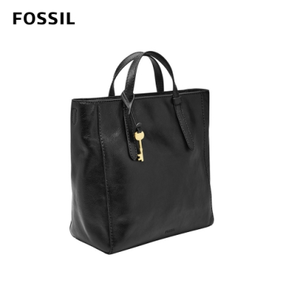 FOSSIL CAMILLA 真皮三用小後背包-黑色 ZB7667001