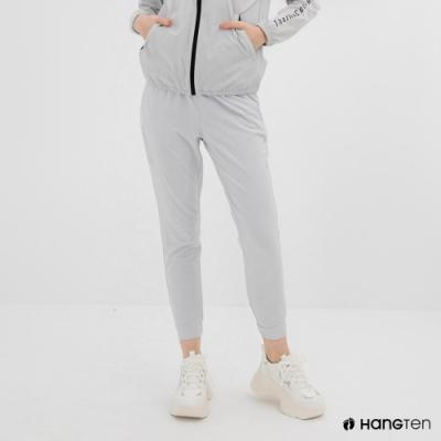 Hang Ten-女裝-恆溫多功能-REGULAR FIT標準四向彈力吸濕快乾抗曬運動長褲-灰白色