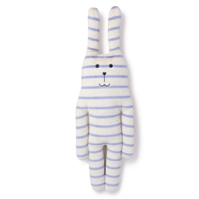 CRAFTHOLIC 宇宙人 米紫條紋兔大抱枕