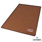 LIFECODE 豪華麂皮-雙人自動充氣睡墊/車中床-厚7cm-咖啡色