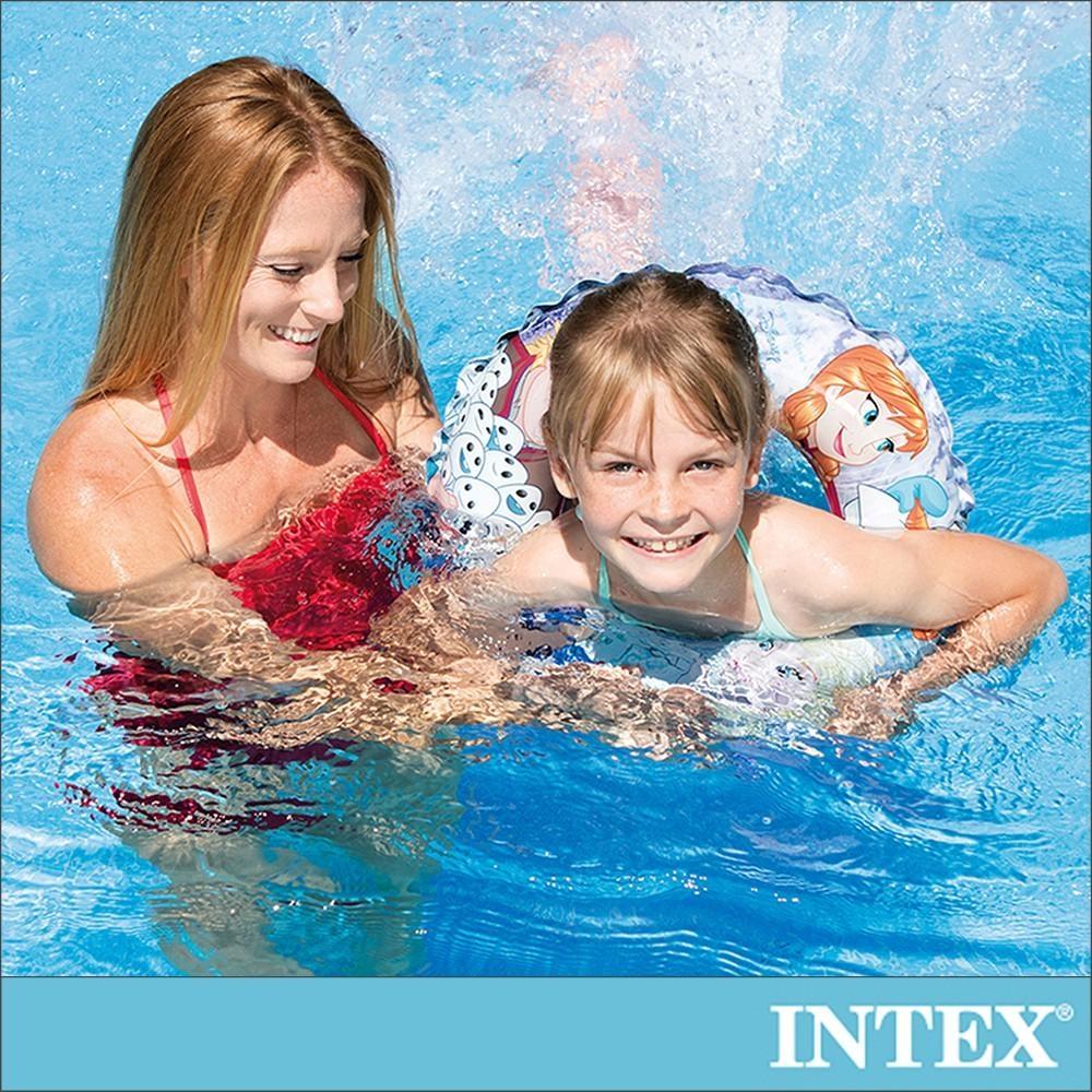 INTEX 冰雪奇緣ELSA-游泳圈51cm適用3-6歲(56201)