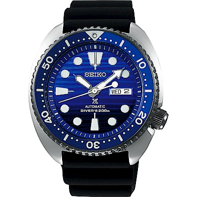 (無卡分期6期)SEIKO 精工PROSPEX SCUBA 愛海洋藍鯨機械錶-45mm