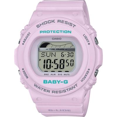 CASIO 卡西歐 Baby-G 衝浪手錶-薰衣草紫(BLX-570-6)