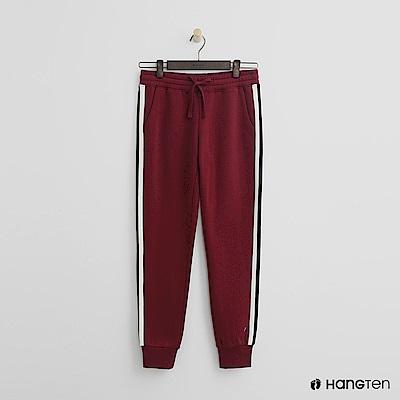 Hang Ten - 女裝 -側邊撞色鬆緊束口褲 - 紅