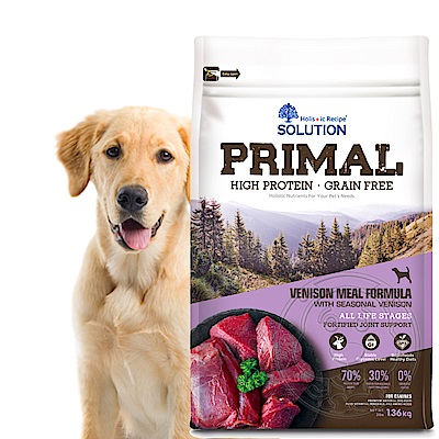 新耐吉斯SOLUTION》源野高蛋白無穀全齡犬/鹿肉配方-6lb/2.72kg