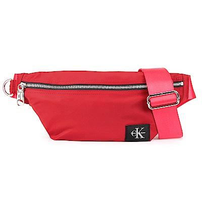 Calvin Klein 經典尼龍LOGO斜背包-紅色