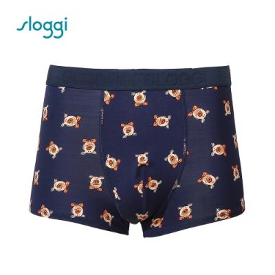 sloggi men Lazy Piggy 系列平口褲 百搭藍 RG918810 B9
