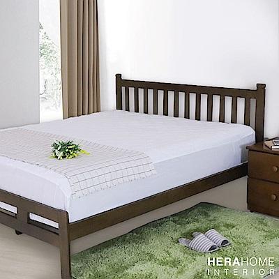 歐暮簡約雙人加大6尺實木床架 (兩色)