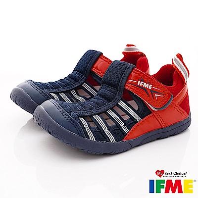 IFME健康機能鞋 輕量透氣排水款 NI02211藍紅(小童段)
