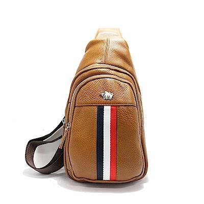 DRAKA達卡 - 路易XIV系列- 牛皮單肩斜背胸包-極褐