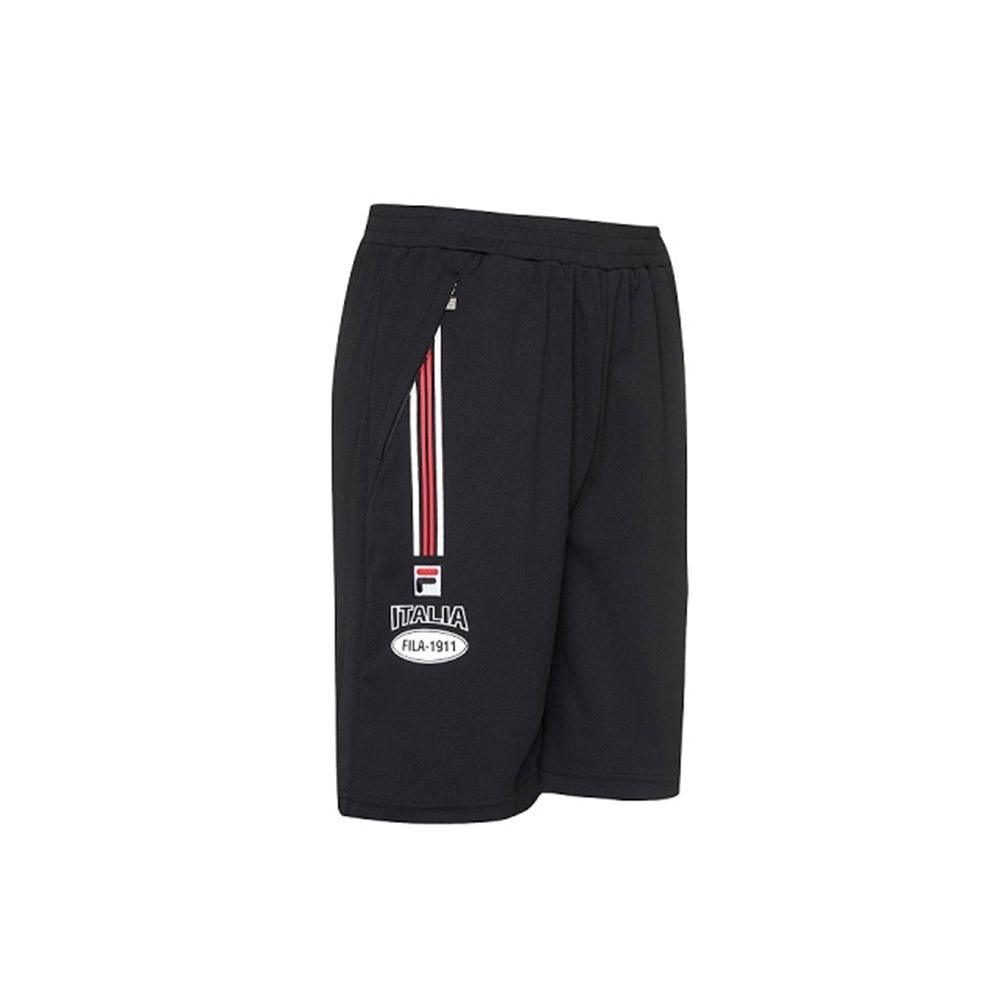 FILA 男吸濕排汗短褲-黑色 1SHV-1709-BK