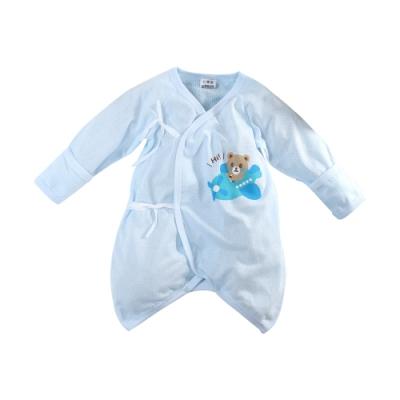 魔法Baby包屁衣 台灣製嬰兒薄長袖護手蝴蝶衣  k51596