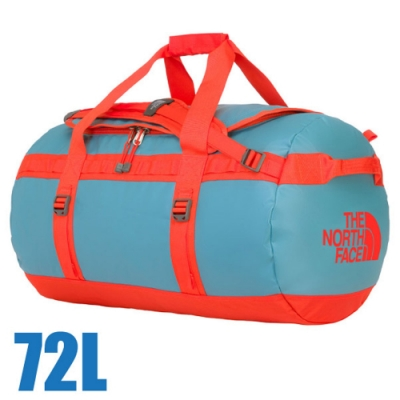 The North Face BASE CAMP DUFFEL 超大容量多功能側背包72L 復古藍/番茄紅 N