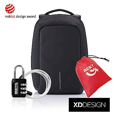 XDDESIGN 終極安全防盜後背包-純黑限量款-大全配組合(桃品國際公司貨)