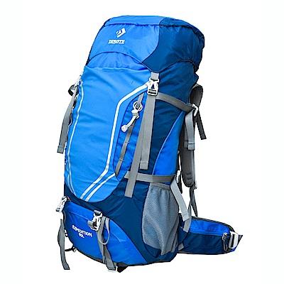 迪伯特DIBOTE 極輕骨架。可調背長 人體工學60L登山背包/登山包 (藍色)