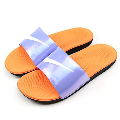 NIKE-KAWA SLIDE SE中童涼鞋-紫+橘