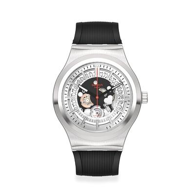Swatch 金屬Sistem51機械錶 SISTEM THROUGH AGAIN (42mm)