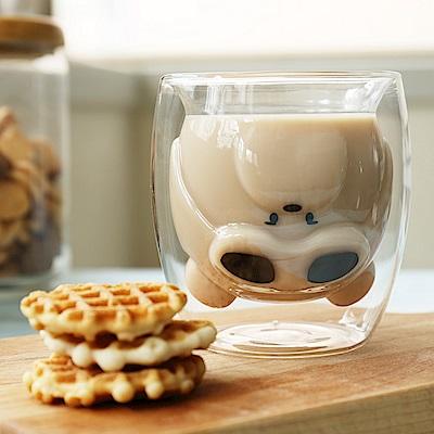 FUSHIMA富島 雙層耐熱玻璃杯Cutie熊250MLx2入