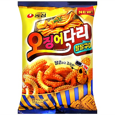 NONGSHIM 烤魷魚腳餅乾( 75 g)