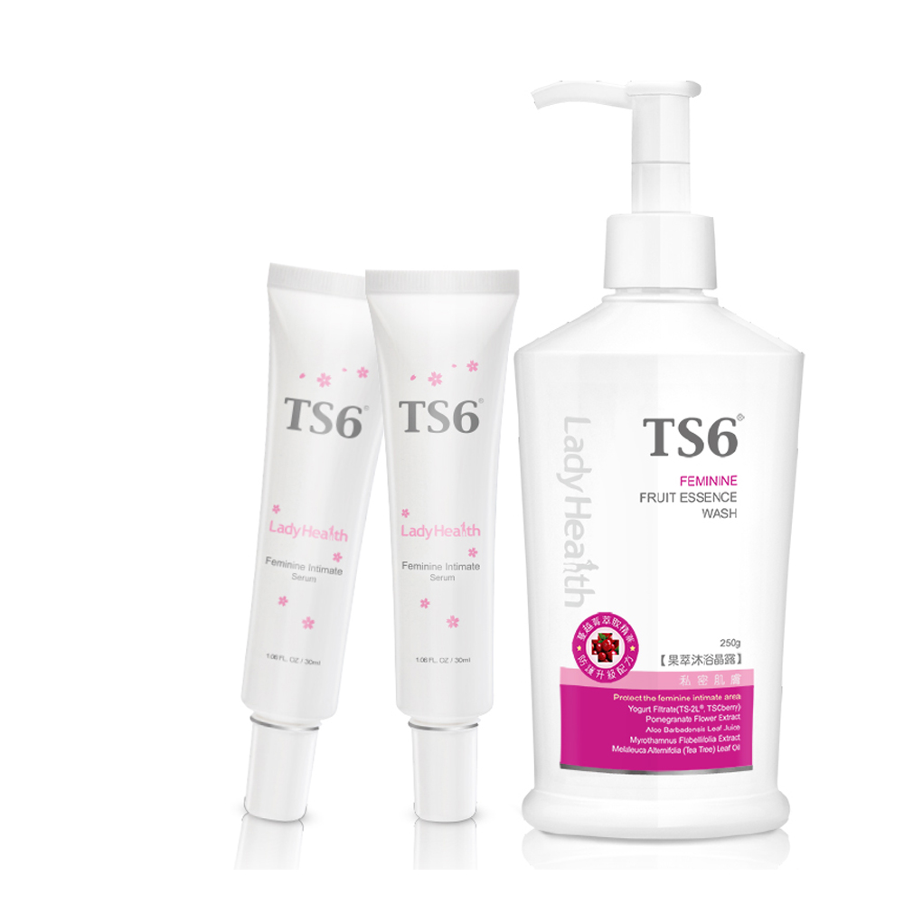 TS6 護一生粉嫩淡色凝膠30gX2+果萃沐浴晶露250g