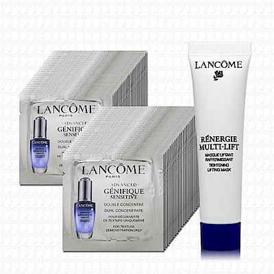 LANCOME蘭蔻 超進化肌因活性安瓶1mlx48(贈太空乳霜面膜15ml)
