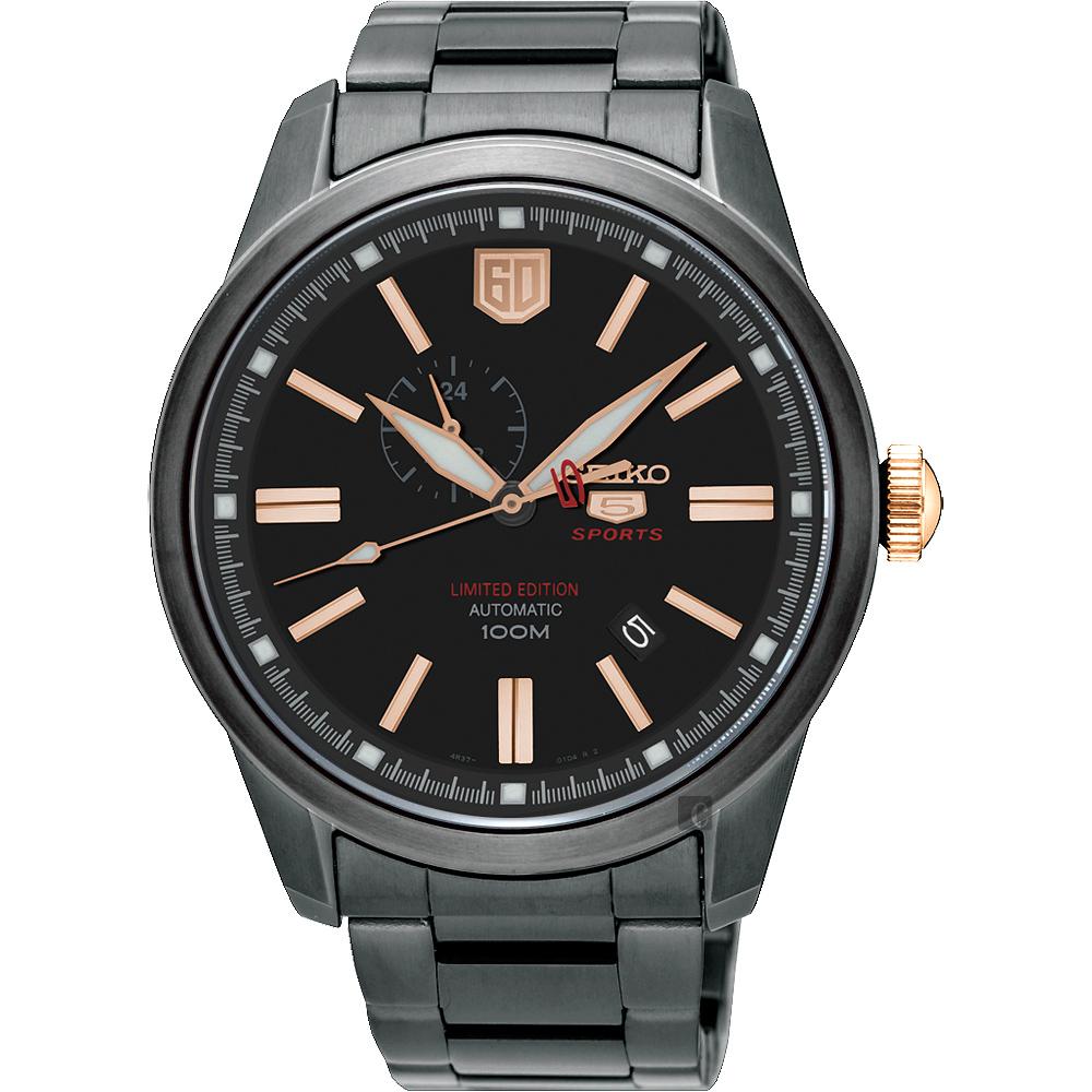 SEIKO 精工 5號盾牌60週年限定版機械錶(SSA317J1)-黑/44mm