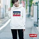 Levis 女款 重磅帽T Sportwear Logo 白 袖口Logo 刺繡布章