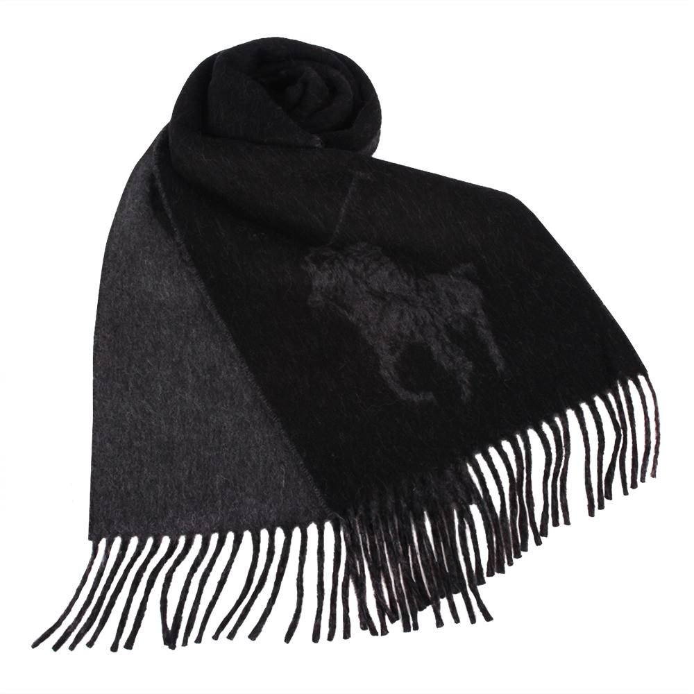 RALPH LAUREN POLO 經典大馬LOGO雙色羊毛圍巾GUCCI