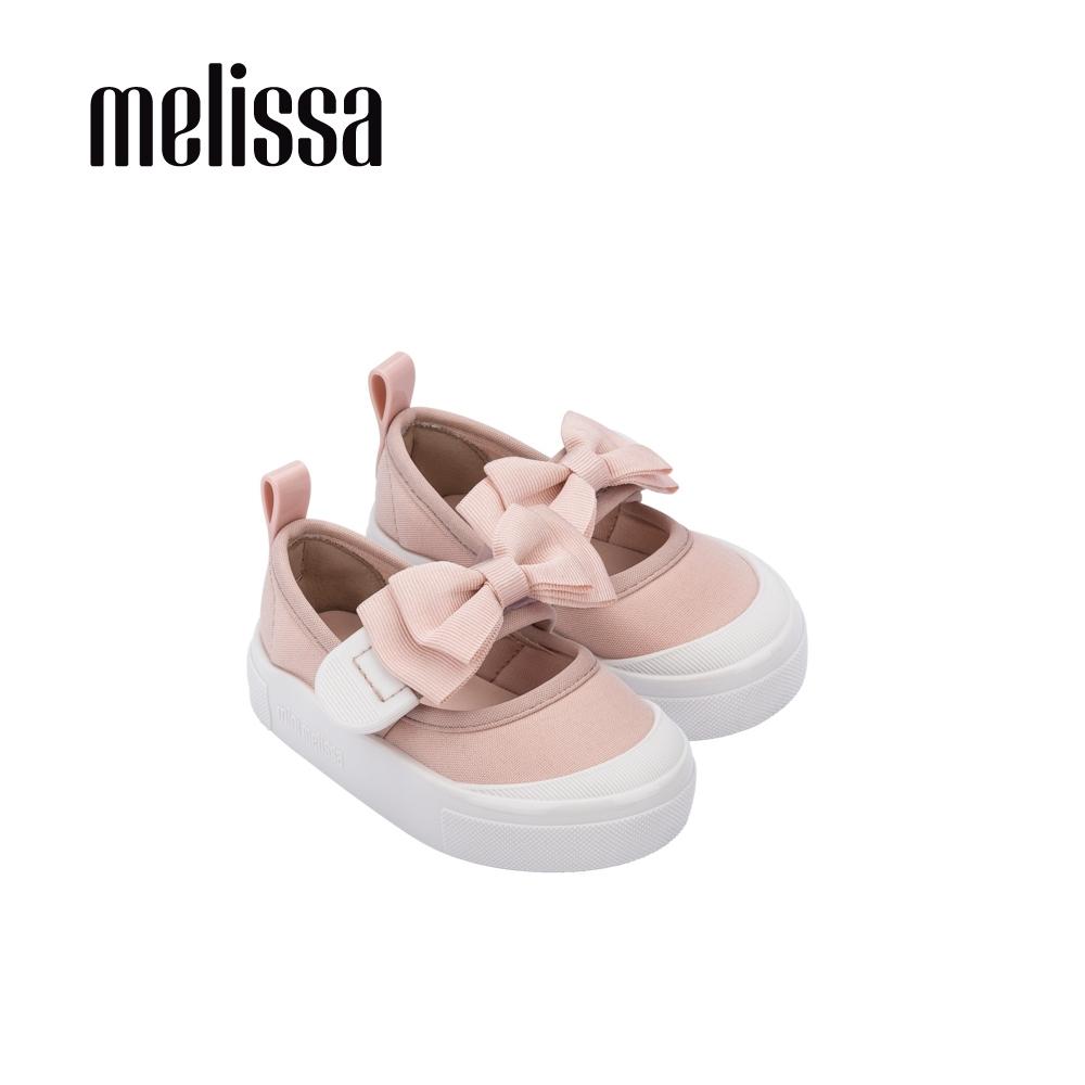 Melissa Basic經典蝴蝶結撞色娃娃鞋 寶寶款-粉