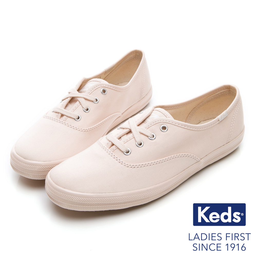 Keds CHAMPION 霧感經典綁帶休閒鞋-淺粉