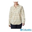 Columbia 哥倫比亞 女款-長袖格紋襯衫-米白色