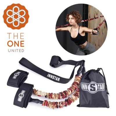 【The One】瑜珈健身 多功能懸掛健身彈力訓練帶(50磅磚紅)