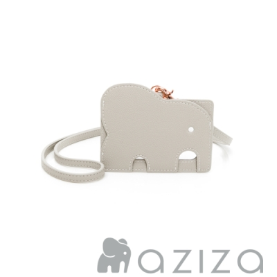 aziza 小象證件套 -小象灰
