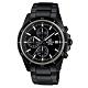 EDIFICE 賽車計時黑離子IP腕錶(EFR-526BK-1A1)-黑X黑圈/45mm product thumbnail 1