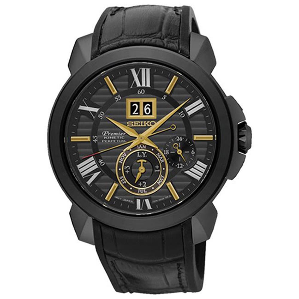 SEIKO 精工Premier喬科維奇人動電能腕錶42mm SNP145J1