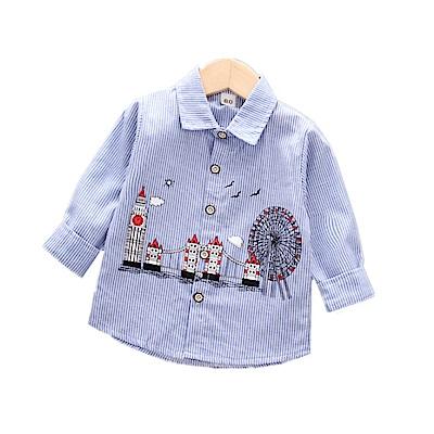 【韓品童裝】男童 中小童遊樂園長袖襯衫