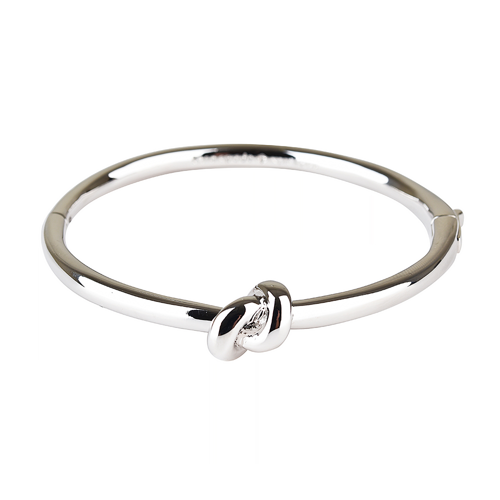 kate spade經典水手結設計扣式手環(銀)