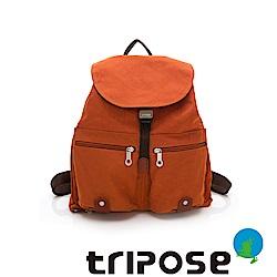 tripose MEMENTO系列微皺尼龍輕量防潑水後背包-大(鮮橙香)