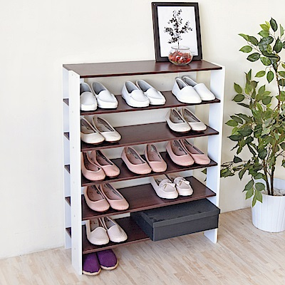 《HOPMA》DIY巧收加寬開放式五層鞋櫃-寬70 x深24 x高91cm