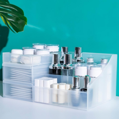 木暉 簡約風抽屜式化妝品收納盒(3色)