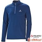 Wildland 荒野 P1608-72深藍 男POLARTEC長袖上衣