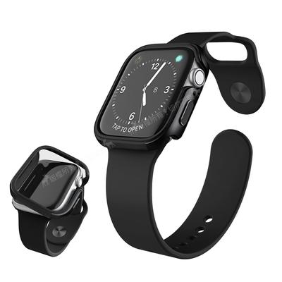 刀鋒Edge系列 Apple Watch Series 6/SE (44mm) 鋁合金雙料保護殼 保護邊框(經典黑)