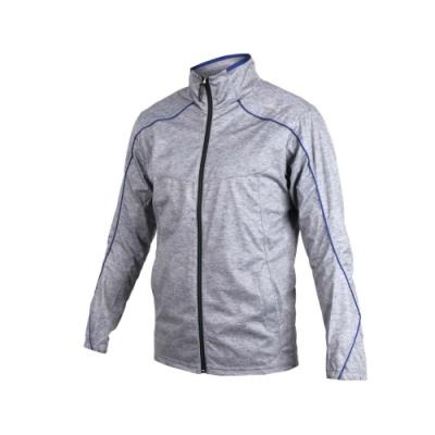 MIZUNO 男平織運動外套-立領外套 慢跑 路跑 美津濃 灰藍