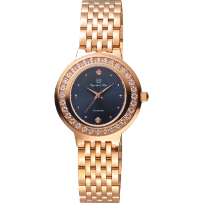 Olympia Star 奧林比亞之星 真鑽女錶(28045DLR)
